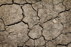Cracked by the heat long lifeless soil ground global warming Royalty Free Stock Image