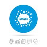 Cracked hole icon. Smash or break symbol. Royalty Free Stock Photos