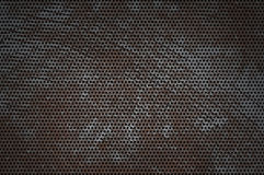 Cracked hole metal texture Royalty Free Stock Photos