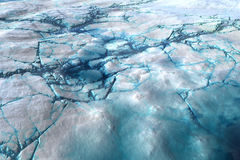 Cracked Ice. Illustration of cracked ice with blue arctic type frozen water Royalty Free Stock Image