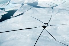 Cracked Ice Royalty Free Stock Images