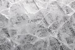 Cracked ice block. Macro detail of a cracked ice block stock photography