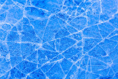 Cracked Ice Bright Blue Texture Background. A photograph of cracked ice. Striking blue ICE perfect for use as a background texture Royalty Free Stock Photography
