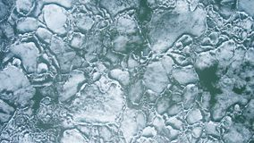 Cracked Ice from drone view. Cracked Ice from drone view for use in presentations, manuals, design, etc stock video footage
