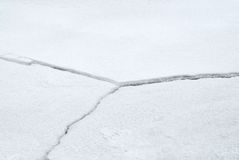 Cracked ice fissures Royalty Free Stock Photo