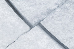 Cracked ice viewed from above Stock Photo