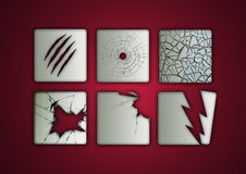 Cracked Icons Stock Image