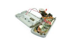 Cracked isolated analog radio Stock Image