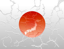 Cracked Japan flag Royalty Free Stock Photos