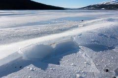 Cracked Lake Ice Royalty Free Stock Photo