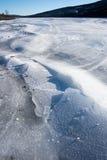 Cracked Lake Ice Stock Image