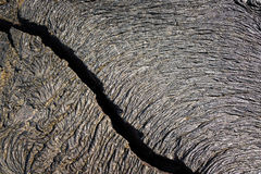 Cracked Lava in Galapagos Royalty Free Stock Image