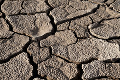Cracked lifeless soil. Cracked by the heat long lifeless soil Royalty Free Stock Photos
