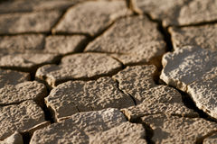 Cracked lifeless soil. Cracked by the heat long lifeless soil Royalty Free Stock Image