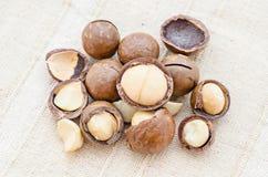 Cracked Macadamia nut Royalty Free Stock Photo