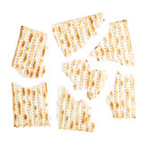 Cracked machine made matza flatbread Stock Image