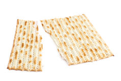 Cracked machine made matza flatbread Royalty Free Stock Photos