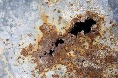 Cracked metal. Stock Photo