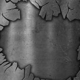 Cracked metal background Royalty Free Stock Images