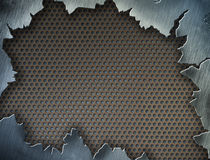Cracked metal texture or frame or template. For your design Royalty Free Stock Images