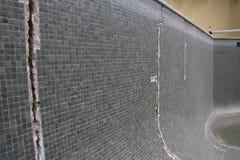 Swimming pool cracks Royalty Free Stock Image