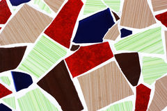 Cracked mosaic tiles. Royalty Free Stock Photos
