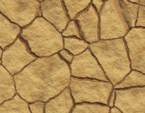 Cracked Mud. Realistic Illustration of Cracked Mud Soil by Lack of Water Stock Photography