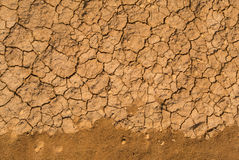 Cracked mud. An abstract Cracked mud texture Stock Photos