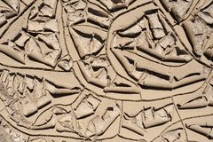 Cracked mud in the Desert royalty free stock photography