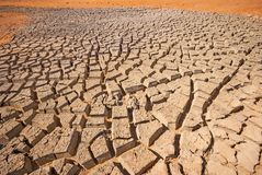 Cracked Mud in a Desert Royalty Free Stock Images