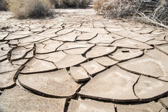 Cracked Mud Flats Stock Photo