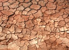 Cracked mud ground Stock Images