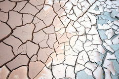 Cracked mud surface. Full frame natural background Stock Photography