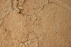 Cracked Mud Wall Texture Background Stock Image