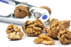 Cracked nuts stock photography