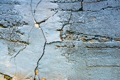 Cracked Old Concrete Painted Wall Stock Photo