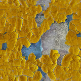 Cracked old enamel on surface of wall - seamless pattern Royalty Free Stock Photos
