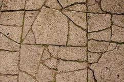Cracked old pavement background Royalty Free Stock Photos