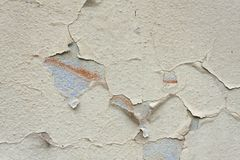 Cracked old Wall Detail Background Texture For Text Or Image. Abstract background, old cracked plaster wall Royalty Free Stock Photography