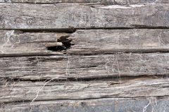 Cracked old wooden sleepers Stock Images