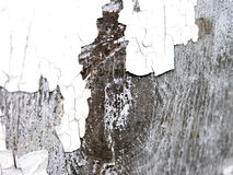 Cracked paint. Closeup of a wooden waal with cracked paint Stock Photo
