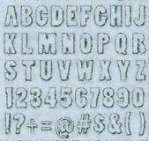 Cracked paint - Alphabet Set Stock Photo