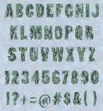 Cracked paint - Alphabet Set Stock Images
