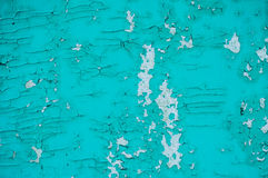 Cracked paint background. Texture. Cracked, peeling blue paint royalty free stock photos