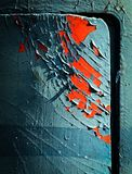 Cracked paint on the door Royalty Free Stock Photos