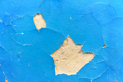 Cracked paint on an old plaster wall Royalty Free Stock Photography