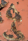 Cracked paint on rusty iron Stock Photography