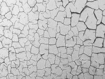 Cracked paint on rusty metal wall. Royalty Free Stock Photos