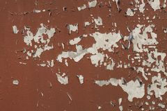 Cracked paint on steel for pattern Stock Photo