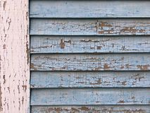 Cracked Paint Texture Post and Siding Royalty Free Stock Photos